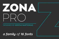 Zona Pro (16 Weights) by Kostas Bartsokas on @creativemarket