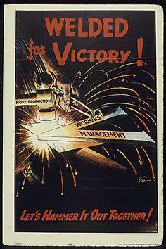 Welded for Victory vintage war poster
