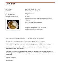 #Rezept #Golden #Curry mit Hühnerfleisch