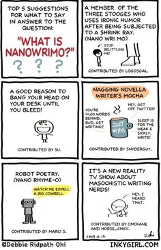 What's NaNoWriMo? The best (craziest) month of the year!