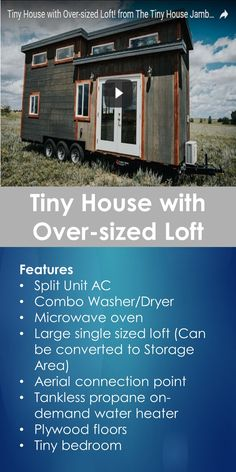 Tiny House Video Tour: Tour of Tiny House with Over-sized Loft | Tiny Quality Homes