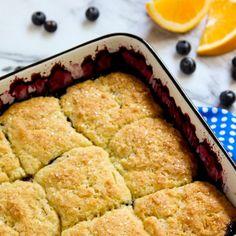 Blueberry Cobbler with Orange Biscuit Puffs.