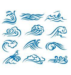 set-of-waves-vector-696665.jpg (380×400)