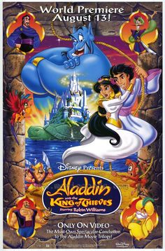 Aladdin and The King of Thieves posters for sale online. Buy Aladdin and The King of Thieves movie posters from Movie Poster Shop. We're your movie poster source for new releases and vintage movie posters. Walt Disney, Disney Love, Disney Art, Disney Pixar, Disney Wiki, Watch Aladdin, Aladdin Movie, Aladdin 1992, Aladdin Y Jasmin