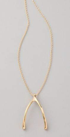 Wishbone necklace.