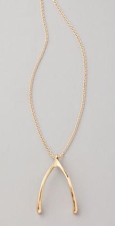 Long wishbone necklace