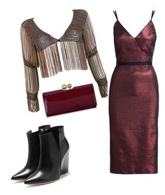 """Untitled #68"" by les-a-lee ❤ liked on Polyvore featuring Azzaro, Cinq à Sept, Rupert Sanderson, Ted Baker and imthankfulfor"