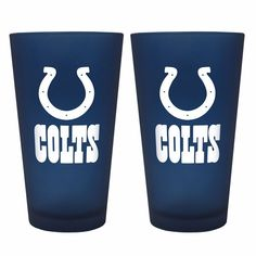 Indianapolis Colts Color Frost Pint Glasses $24.99