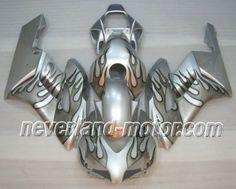 Honda CBR 1000RR 2004-2005 ABS Verkleidung - Sliver Flamme #sc57verkleidung #verkleidunghondacbr1000rr