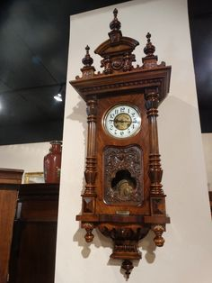 Gorgeous Large Size Kienzle Q=Strike German Wall Clock- Walnut Case