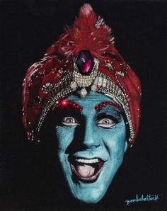 Jambi Black Velvet Painting by Diane Shilkitus Art And Illustration, Illustrations, Black Velvet, Velvet Painting, Painting Art, Body Painting, Pee Wee's Playhouse, Pee Wee Herman, Creepy Clown