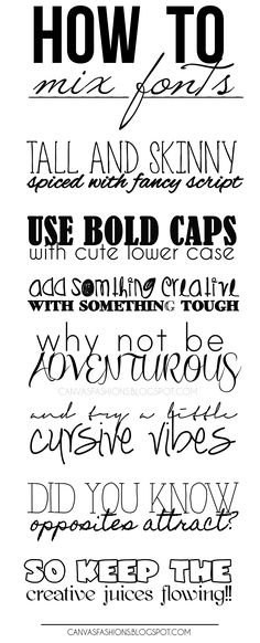 How to mix fonts in hand lettering text layout Creative Lettering, Brush Lettering, Lettering Styles, Lettering Ideas, Brush Script, Lettering Design, Bujo, Cricut Fonts, Calligraphy Letters