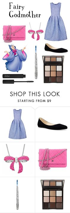 """""""Fairy godmother"""" by brianapaige14 ❤ liked on Polyvore featuring Shrimps, Nine West, Amanda Rose Collection, Chanel, Trish McEvoy, cinderella, magic, MAGICAL and BibbidiBobbidBoo"""