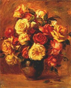 Bouquet of Roses - Pierre-Auguste Renoir