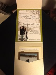 My wedding invites. Not the best picture, but my sister-in-law did an AMAZING job :)