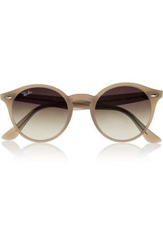 Ray-Ban lenses on a stylish pair of womens wooden sunglasses.