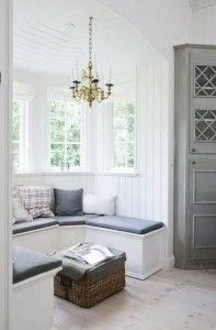 Oh how I dream of someday having a airy summer house to enjoy for the warm months.. A relaxed atmosphere and friends. Perfection. images via skona hem