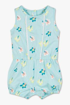 Babys - Baby-Jumpsuit - Bio-Baumwolle - helltürkis Newborn Outfits, Babys, Baby Gifts, Rompers, Clothes, Dresses, Fashion, Cotton, Babies