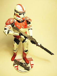 SIDESHOW EXCLUSIVE STAR WARS IMPERIAL SHOCK TROOPER 12-INCH ACTION FIGURE ROCKETRAYGUN MIKUTOYS