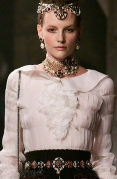 Over-sized pearl earrings Paris Edinburgh Chanel Pre Fall Collection