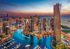 Clementoni Abenddämmerung Romantik Dubai Erwachsenenpuzzle Dubai City, Dubai Hotel, Dubai Uae, Travel Around The World, Around The Worlds, Dubai Resorts, Dubai Real Estate, Dubai Holidays, Visit Dubai