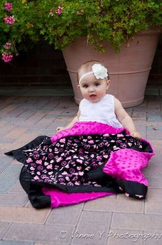 READY TO SHIP  Baby Girl Blanket  Peace and Skulls by notybaby, $50.00