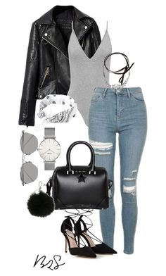 """#733"" by blendingtwostyles ❤ liked on Polyvore featuring Topshop, Givenchy, Fallon, Linda Farrow, CLUSE, MICHAEL Michael Kors and Lipsy"
