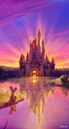 tags : disney color colorful awesome amazing castle disney world disney land magic disney castle beautiful magical disneyworld disneyland Disney Pixar, Walt Disney, Disney Amor, Disney E Dreamworks, Disney Magic, Disney Movies, Disney Parks, Disney Mural, Punk Disney