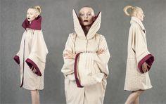 Diploma Project by Aleksandra Sadura 2014 fashion | form | quilting | beige | coat