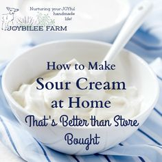 Easy step by step recipe that shows you how to make sour cream at home.