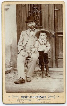 +~+~ Antique Photograph ~+~+ Father and his little bud.