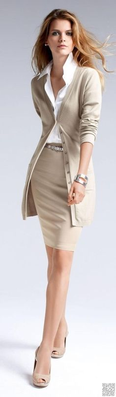 29. #Beige and White - 44 #Professional and Sophisticated #Office Outfits