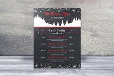 Chalkboard Christmas Menu Card -V430  @creativework247