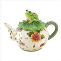 Floral Frog Teapot