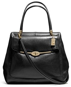 be844cff2b COACH MADISON NORTH SOUTH SATCHEL IN LEATHER - COACH - Handbags  amp   Accessories -