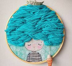 Embroidery Designs Art Fun 40 Ideas For 2019 Embroidery Designs, Embroidery Hoop Crafts, Hand Embroidery Patterns, Cross Stitching, Cross Stitch Embroidery, Diy Broderie, Fabric Dolls, Table Signs, Crochet