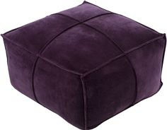 Surya Cotton Velvet Cube Pouf [CVPF006-242413]