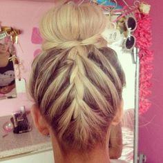 Remarkable Cute Hair Braids And Buns On Pinterest Short Hairstyles Gunalazisus