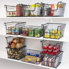 Small Pantry Organization, Diy Kitchen Storage, Kitchen Decor, Organized Pantry, Pantry Ideas, Organize Small Pantry, Organization Ideas, Pantry Diy, Pantry Room