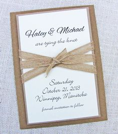 Burlap Ribbon Shabby Chic Rustic Wedding Save by LoveofCreating, $3.00