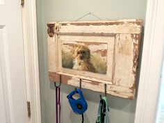 Custom hand painted dog leash holder #dogleash | ECustomFinishes.com