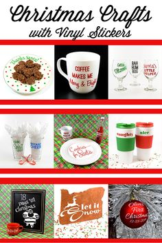 Design Your Own Line Of Pint Glasses For Your Holiday Party With - Diy custom vinyl stickers