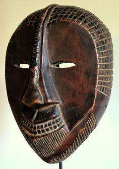 Very rare initiation mask - NGBAKA - D.R. Congo