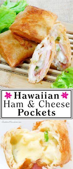 Southern Mom Loves: Hawaiian Ham & Cheese Pockets {Recipe}
