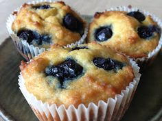 Most delicious paleo recipe. Muffin recipe, but I made it in a springform pan as a breakfast cake. Would be even better with poppy seeds. Moist and delectable!!!!! New fav recipe. Could even add nuts instead of blueberries & make a coffee cake. Yum :)  Hsh
