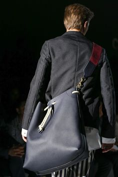 Gucci: Spring/Summer 2015 - Gucci Menswear - Ideas of Gucci Menswear - Gucci: menswear spring/summer 2015 Fashion Models, Fashion Show, Mens Fashion, Mens Weekend Bag, Vogue Paris, Rare Clothing, Gucci Spring, Gucci Men, Leather Design