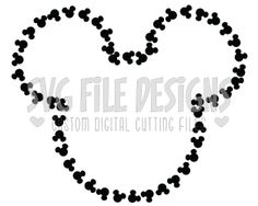 Mickey Mouse Head Outline Svg Cut File Set With Eps Dxf Jpeg Png