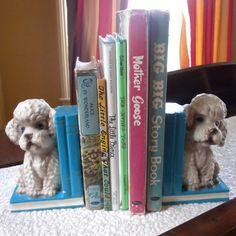 Pair of Vintage French Poodle Dog Bookends by CrescentThriftshop