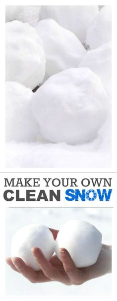 In case you did not get your fill of snow this winter...here is a recipe to help you make your own clean snow! Great for crafts and snacks!