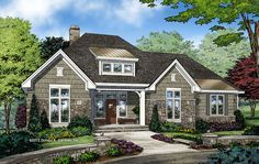 The Greer 1278 is Now Available! A split-bedroom design with the garage in the rear! 3 beds, 2 baths, 1914 sq. ft. #WeDesignDreams http://www.dongardner.com/house-plan/1278/the-greer